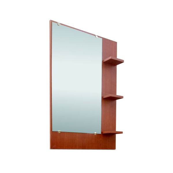 Espejo Cerezo con Repisas Laterales