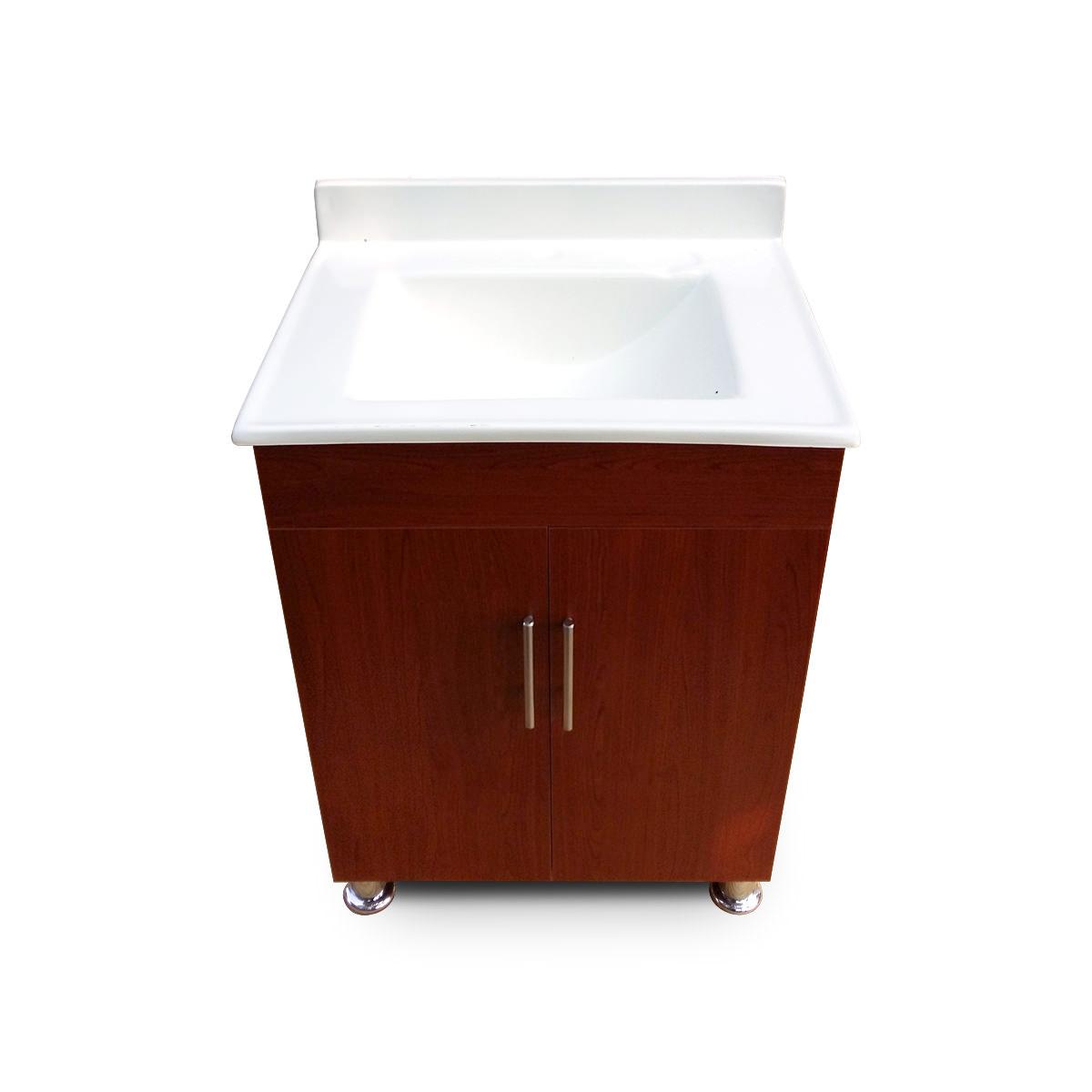 Mueble cerezo lavamanos cuadrado con pesta a - Muebles de lavamanos ...